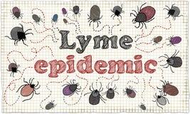 Иллюстрация эпидемии Lyme Стоковое Фото