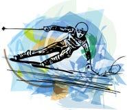Иллюстрация эскиза катания на лыжах Стоковое Фото