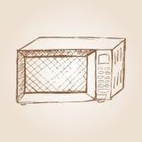Иллюстрация эскиза микроволновой печи Стоковые Изображения