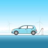 Иллюстрация электрического автомобиля Стоковое Изображение