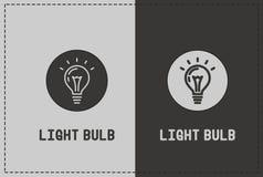 Иллюстрация электрической лампочки Стоковые Фотографии RF