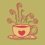 Иллюстрация любовника кофе Papercraft Стоковое Изображение