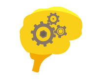 Иллюстрация людского мозга Стоковая Фотография RF