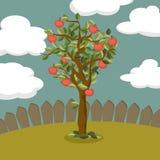 Иллюстрация яблони Стоковые Фотографии RF