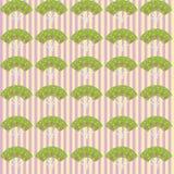 Иллюстрация - японская картина вентилятора Стоковое Изображение RF