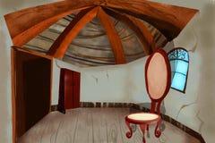 Иллюстрация для детей: Деревянный дом Стоковые Фотографии RF