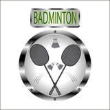 Иллюстрация для игры в бадминтоне иллюстрация штока