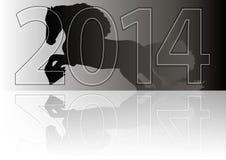 Иллюстрация для календаря Нового Года Стоковые Фотографии RF