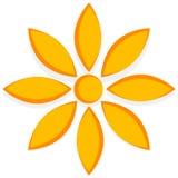 Иллюстрация для природы связала концепции с мотивом цветка Стоковые Изображения RF