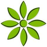 Иллюстрация для природы связала концепции с мотивом цветка Стоковые Изображения