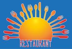 Иллюстрация для ресторанов Стоковые Изображения