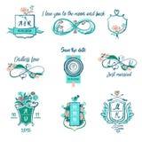 Иллюстрация я тебя люблю к луне и задней части для wedding агенства, бесплатная иллюстрация
