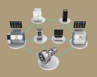 Иллюстрация для умной концепции фабрики Стоковые Изображения RF