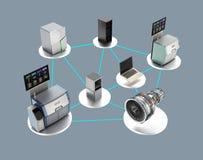 Иллюстрация для умной концепции фабрики Стоковое фото RF