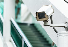 иллюстрация cctv камеры предпосылки высокая изолировала белизну качества Стоковое Фото