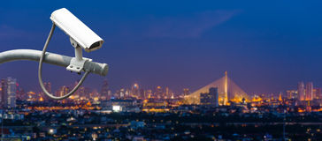 иллюстрация cctv камеры предпосылки высокая изолировала белизну качества Стоковые Фото