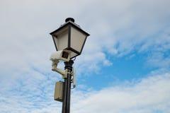 иллюстрация cctv камеры предпосылки высокая изолировала белизну качества Стоковое Изображение