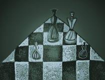 иллюстрация chessboard шахмат предпосылки соединяет белизну Стоковое Фото