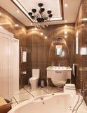 иллюстрация 3D ванной комнаты Стоковое Изображение