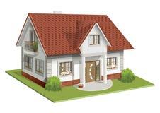 Иллюстрация 3d вектора классического дома Стоковое Изображение RF