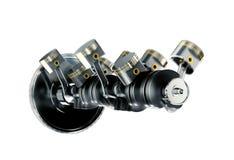иллюстрация 3d двигателя Мотор разделяет как кривошин, поршени в движении иллюстрация вектора