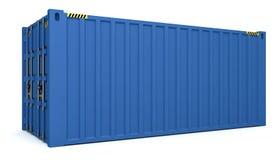 иллюстрация 3D грузовых контейнеров изолированных на белизне Стоковая Фотография