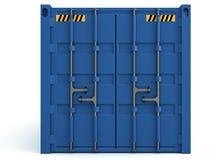 иллюстрация 3D грузовых контейнеров изолированных на белизне Стоковые Изображения RF