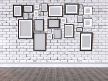 иллюстрация 3D изображения на стене Стоковое Фото