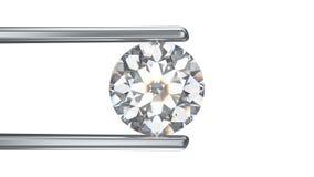иллюстрация 3D изолировала диамант в щипчиках на белом backgrou иллюстрация вектора