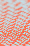 иллюстрация 3d изолировала представленный текст сбывания белый Стоковое Фото