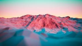иллюстрация 3d красочных абстрактных гор Стоковые Фотографии RF