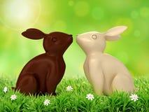 иллюстрация 3D кроликов шоколада Стоковые Фото