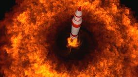 иллюстрация 3D межконтинентальной баллистической ракеты Стоковые Изображения RF