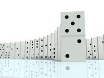 иллюстрация 3d домино Стоковое Изображение