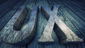 иллюстрация 3D: Опыт потребителя, UX Стоковое Фото