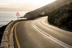 иллюстрация 3d представила дорогу twisty стоковые фото