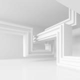 иллюстрация 3d современного дизайна интерьера Минимальная архитектура Стоковые Фото