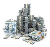 иллюстрация 3d стога долларов сверх Стоковое фото RF