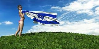 иллюстрация 3d флага иллюстрация штока