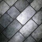 Иллюстрация 3d Grunge металлопластинчатая Стоковая Фотография