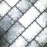 Иллюстрация 3d Grunge металлопластинчатая Стоковое Фото