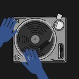 Иллюстрация DJ Стоковые Изображения