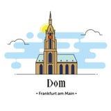 Иллюстрация Dom Франкфурта-на-Майне в Германии Стоковое фото RF
