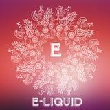 Иллюстрация E-жидкости вектора различного вкуса Стоковое Фото