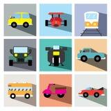 Иллюстрация eps10 значка автомобиля установленная Стоковые Фотографии RF