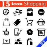 Иллюстрация eps10 значка покупок установленная Стоковое Фото