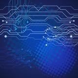 Иллюстрация eps 10 предпосылки абстрактной технологии голубая Стоковое Фото