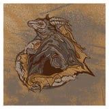 Иллюстрация grunge козы винтажная иллюстрация вектора