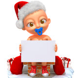 Иллюстрация Jake Санта Клауса 3d младенца Стоковое Изображение RF