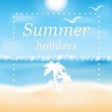 Иллюстрация Seascape Стоковое Изображение RF